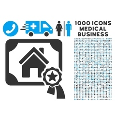 Realty certification icon with 1000 medical vector