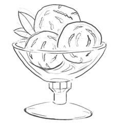 Sweet candy sketch in doodle style vector image
