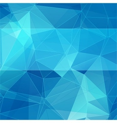 Triangular style blue abstract background vector