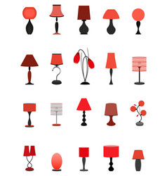 Twenty elegant stylish graceful lamps collection vector