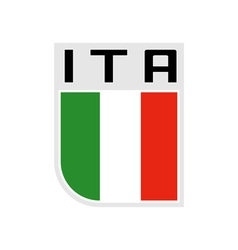 Flag of italy icon vector