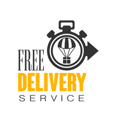 Free delivery service logo design template vector