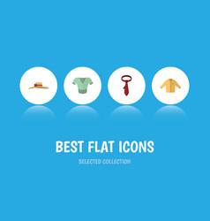 Flat icon garment set of elegant headgear cravat vector