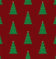 Xmas tree background red vector