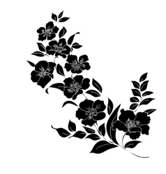 Twig blossoms vector