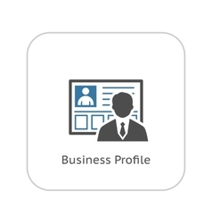 Business profile icon flat design vector