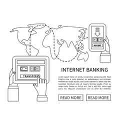 Internet banking mobile payments money transfer vector