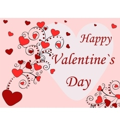 Happy valentines day holiday card vector