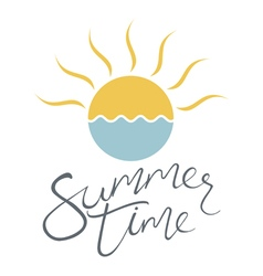 Summer time sun vector
