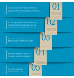 blue paper numbered banners vector image