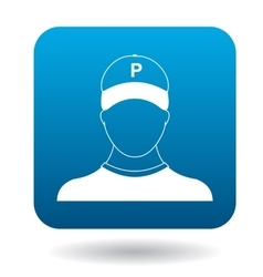 Parking attendant icon simple style vector