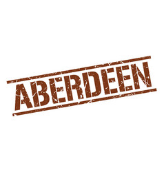 Aberdeen brown square stamp vector