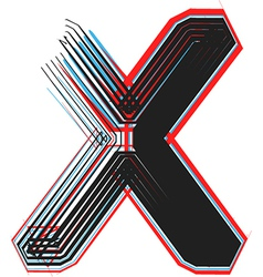 abstract font letter x vector image