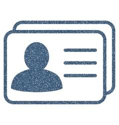 Account cards grainy texture icon vector