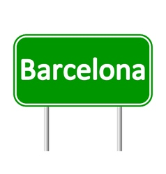 Barcelona road sign vector