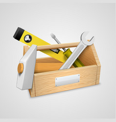 Box with tools vector