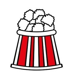 bucket pop corn cinema graphic outline vector image
