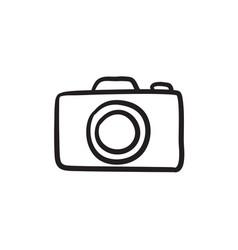Camera sketch icon vector