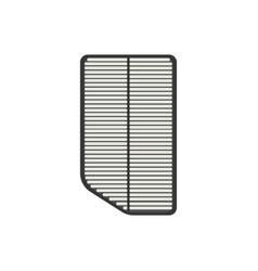Car air filter vector