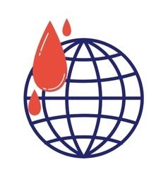 Donate icon globe vector image vector image