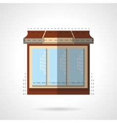 Flat color store window icon vector
