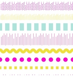 Geometric embroidery seamless pattern vector