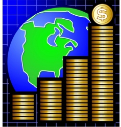 global coins vector image vector image