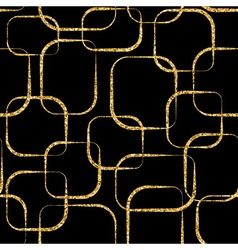 Gold crossing circled rectangles seamless pattern vector