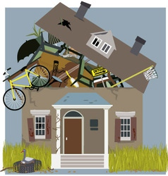 Hoarder house vector