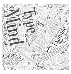 Mind puzzles substituting word cloud concept vector
