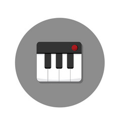 Mini keyboard synth icon graphic vector