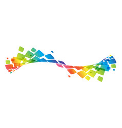 multicolor curve rainbow waved lines vector image