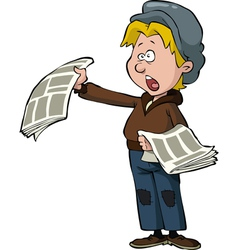 newsboy vector image vector image
