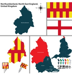 Northumberland north east england vector