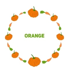Pumpkin and carrot vector image vector image