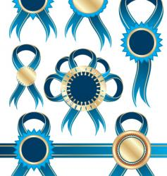 ribbons and medals vector image vector image