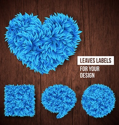 Set of leaves labels for Your design vector image