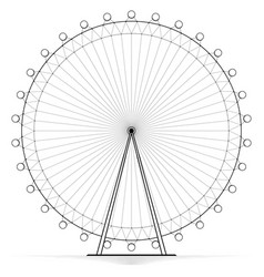 silhouetted carousel ferris wheel high openwork vector image vector image
