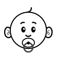 simple cartoon of a cute baby vector image vector image