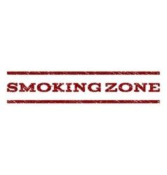 Smoking zone watermark stamp vector