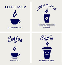 Steaming coffee cards design vector