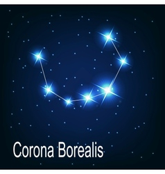 The constellation corona borealis star in the vector
