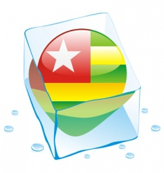 Togo flag vector image vector image