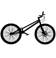 Trials mountain bike vector image vector image