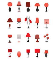 twenty elegant stylish graceful lamps collection vector image vector image