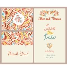 Wedding invitation templates set vector image vector image
