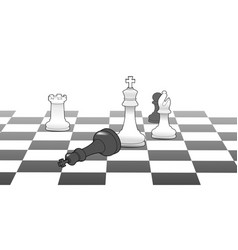 Chess king victory game strategy win vector image