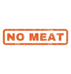 No meat rubber stamp vector