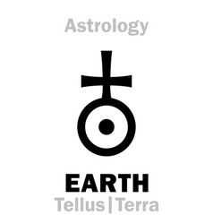 Astrology sign of earth tellus terra vector
