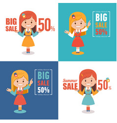 Advertising shopping banners big summer sale vector